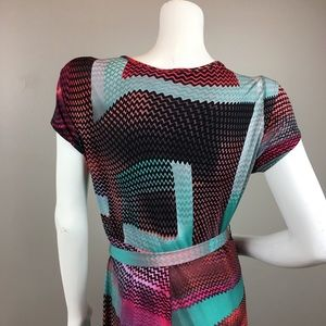 new directions Dresses - New Directions Maxi Dress Stretch Geometric Print